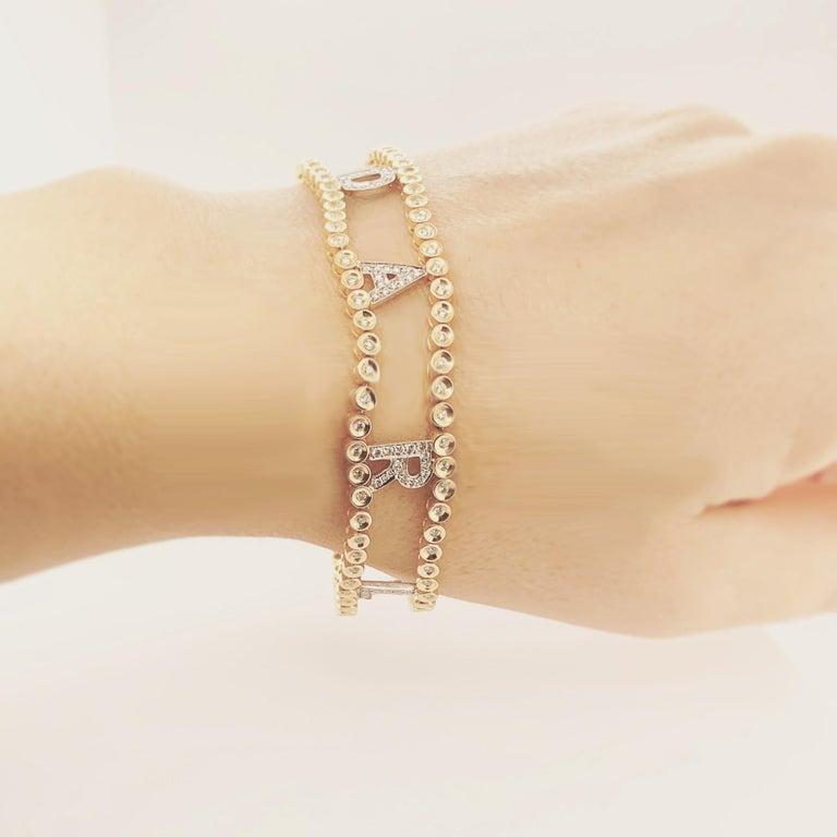 Women's Darling Diamond Gold Riviere Bracelet For Sale