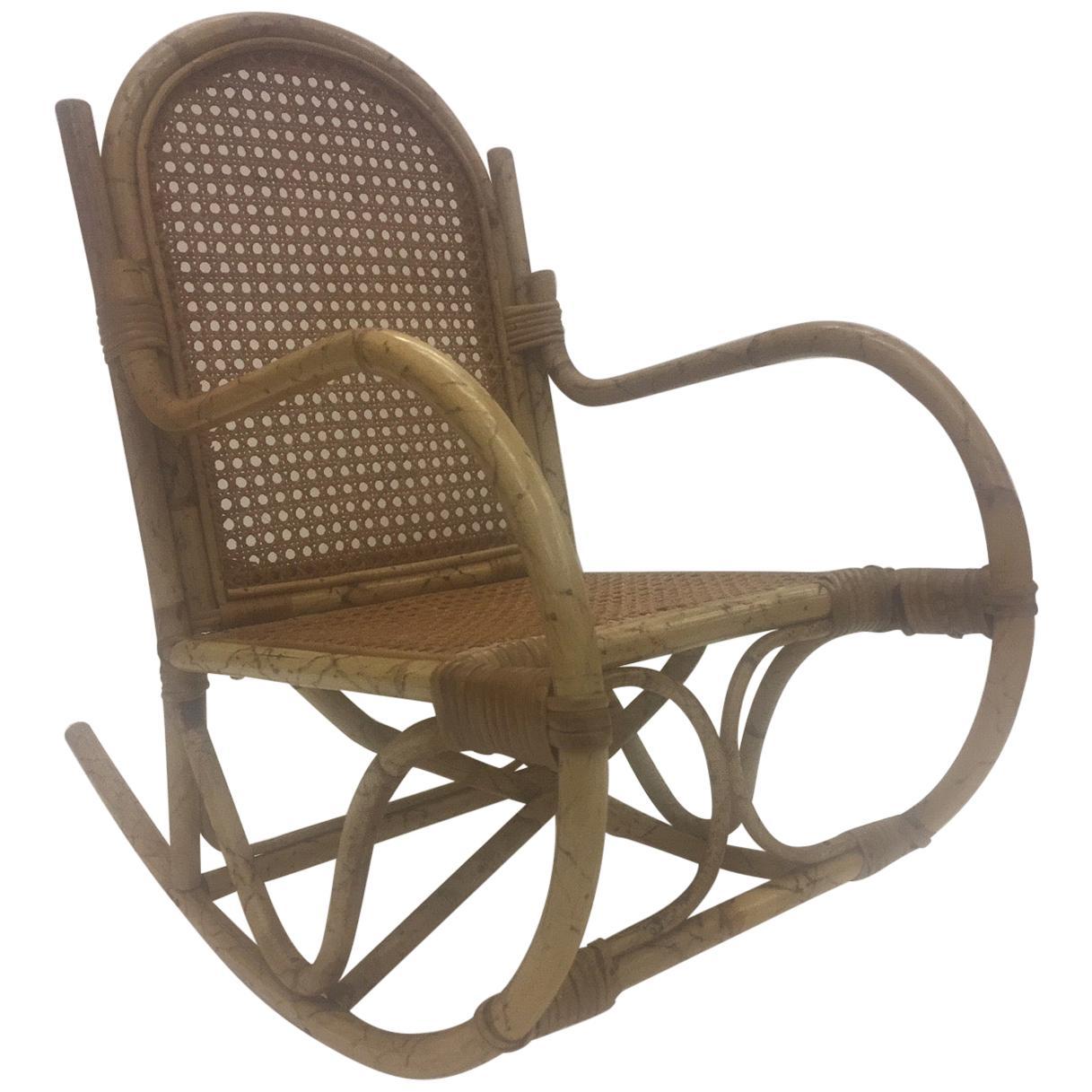 Darling Rattan Child's Rocking Chair