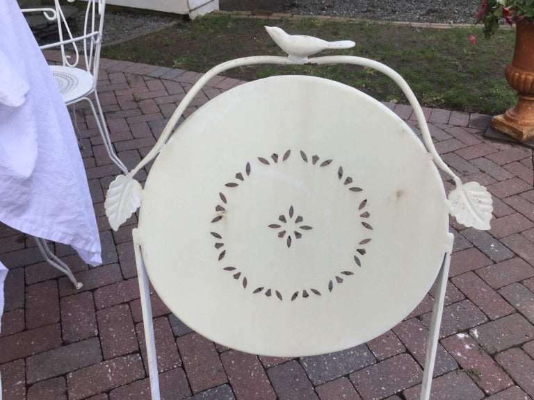 American Darling Vintage Outdoor Bistro Table and Chairs For Sale