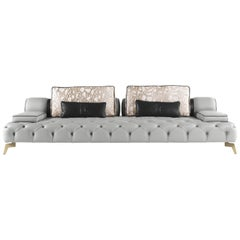 Darlington 3-Seat Sofa in Leather by Roberto Cavalli