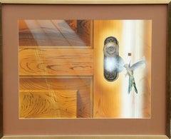 """Hummingbird at Door"" Painting by Darrell Evers"