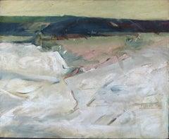 Mid Century Abstract Oil on Canvas - Bridgeport Valley, CA