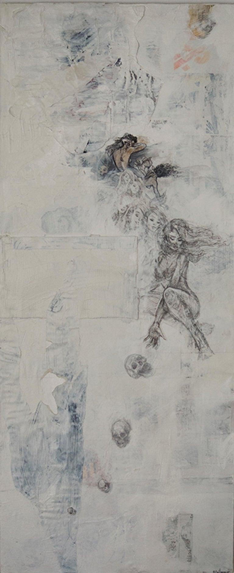 Darren LeGallo Abstract Painting - Un Cadeau de Quatres Cranes