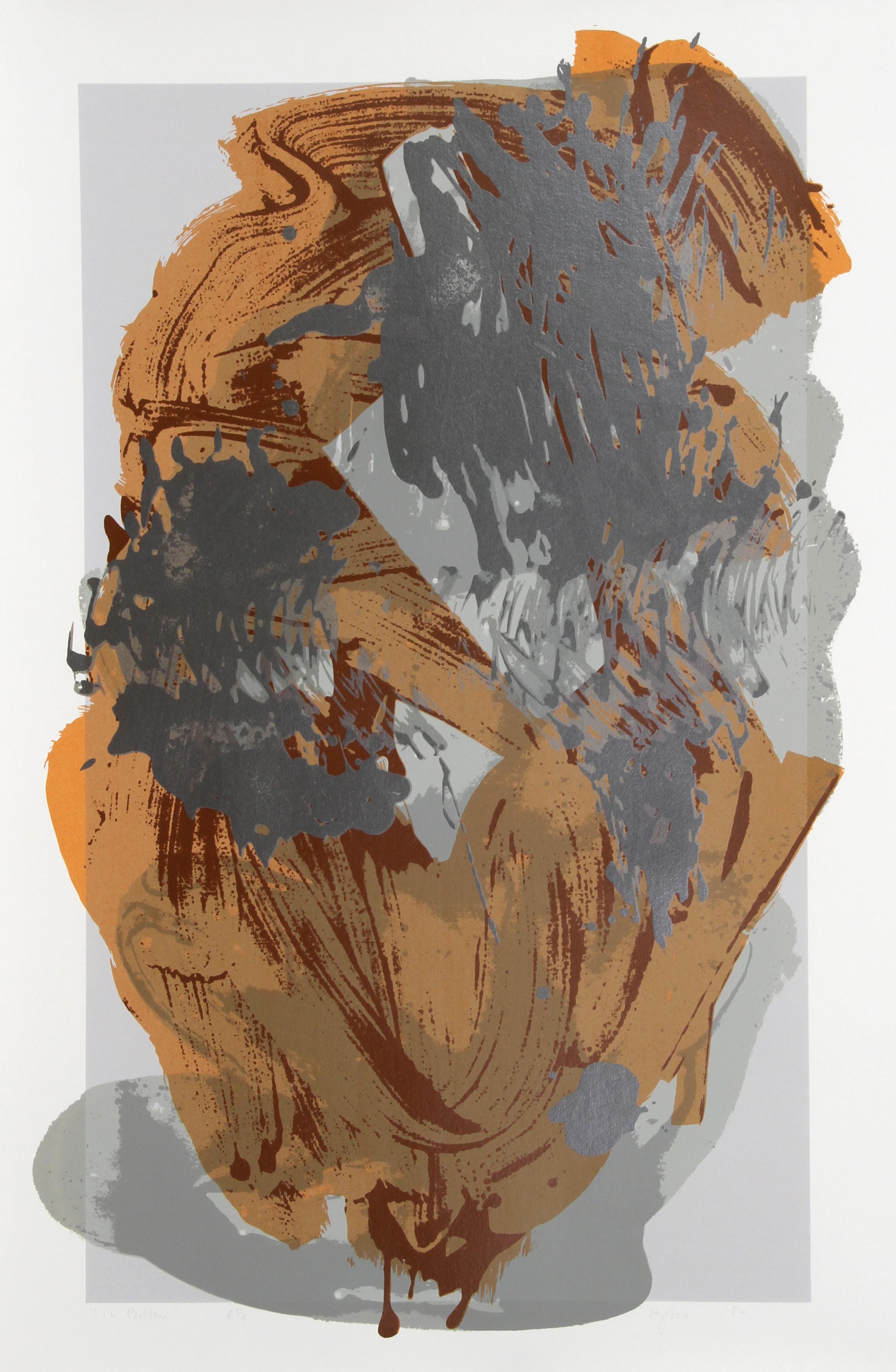 12 Bottom, Large Abstract Serigraph by Darryl Hughto