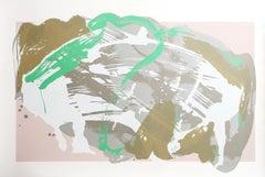 Barn Boots, Abstract Serigraph by Darryl Hughto