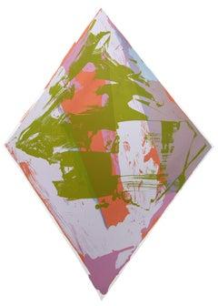 Love, Abstract Silkscreen by Darryl Hughto