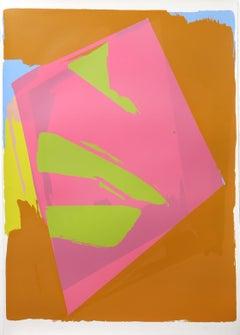Tug Hill, Abstract Silkscreen by Darryl Hughto