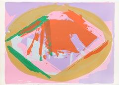 Warm Hearth, Abstract Silkscreen by Darryl Hughto