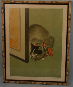 Homage to Oriental Art-Cat Serigraph