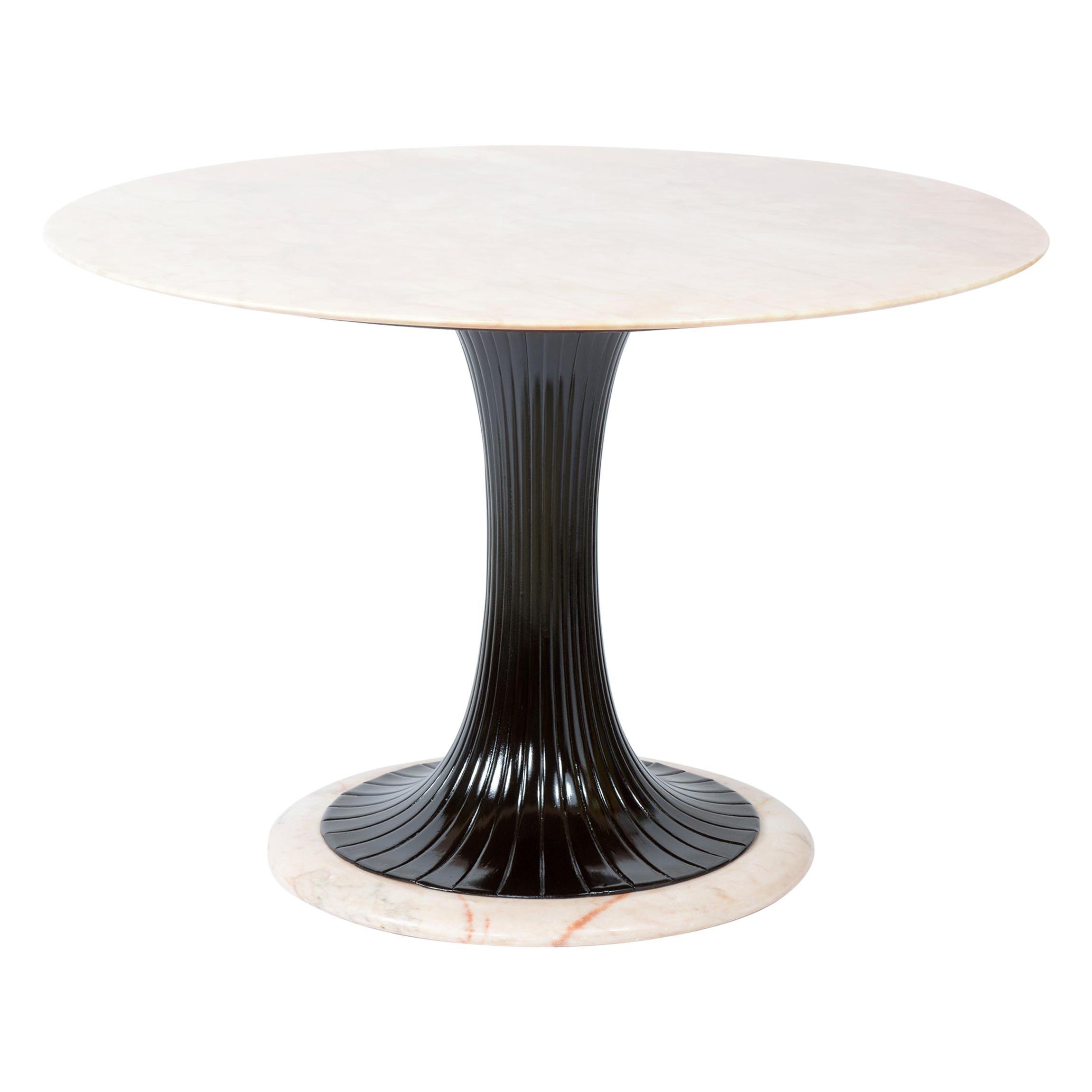 Dassi Lissone Milano Italy Midcentury Round Marble Top Table