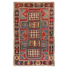 Dated 1860, Caucasian Wedding Rug, The Best of a Small Group of Sewan Kazak Rugs