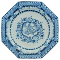 Dated Crowther Plate, Bow Porcelain Factory, 1770
