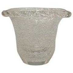 Daum Art Deco Clear Crystal French Vase