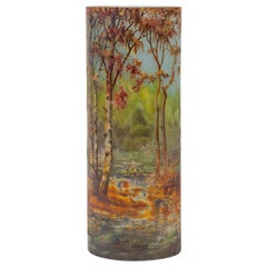 "Daum Cameo ""Automn"" Landscape Vase"