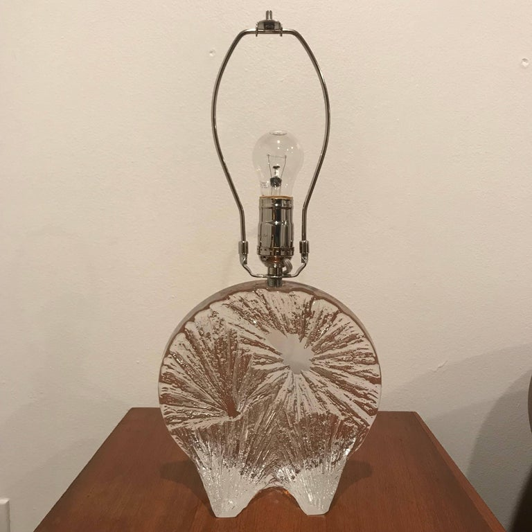 Daum Crystal French 1960 Table Lamp For Sale 5