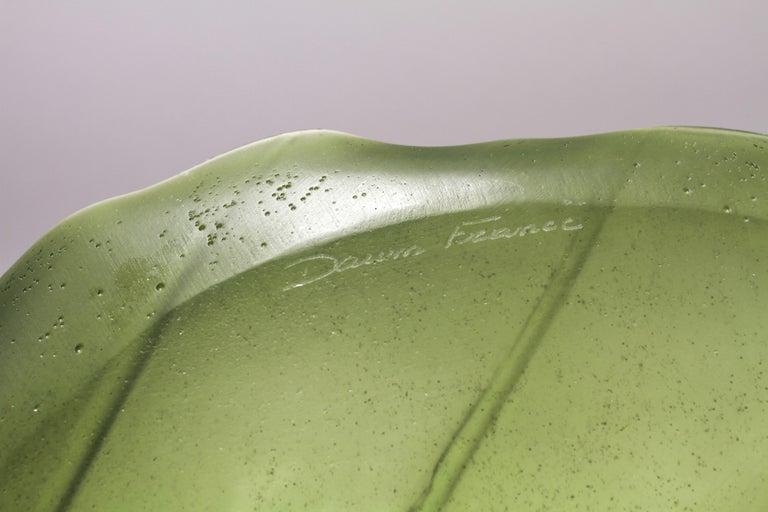 20th Century Daum France Art Glass Pate de Verre Leaf Platter For Sale