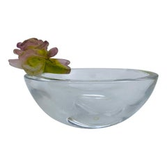 Daum France, Coupelle Ronde Roses, Small Bowl