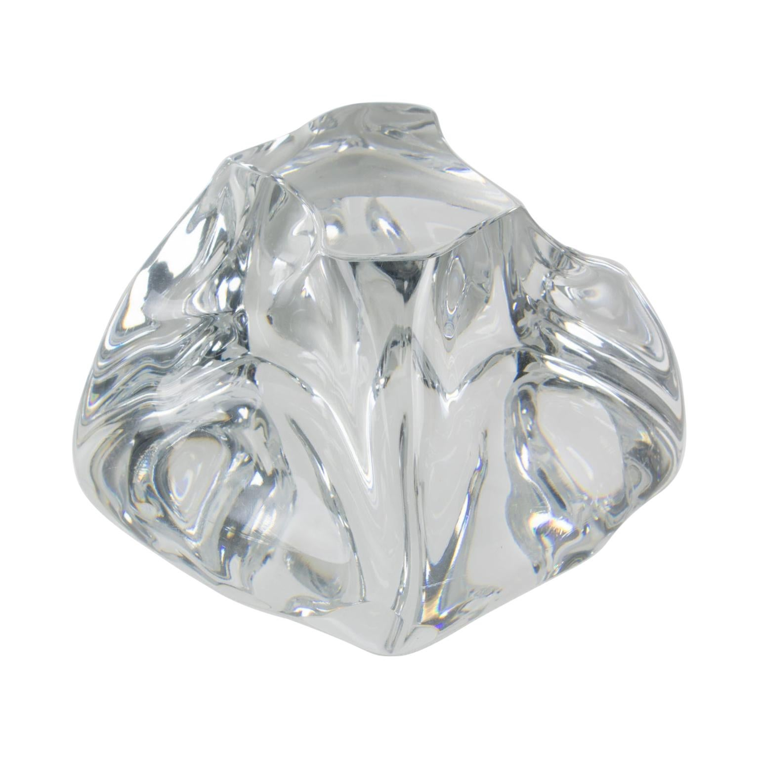 Daum France Crystal Paperweight Sculpture
