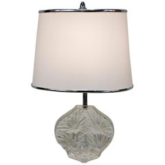 Daum France Modern Design Crystal Base Table Lamp