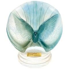 Daum France Pate De Verre Dove Bird Sculpture, La Colombe by Peter W. Yenawine
