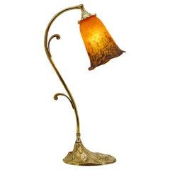 Daum French Art Deco / Nouveau Table Lamp, ca.1925