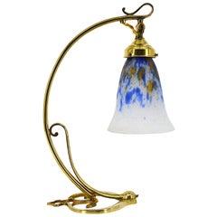 Daum French Art Deco Nouveau Table Lamp, circa 1920