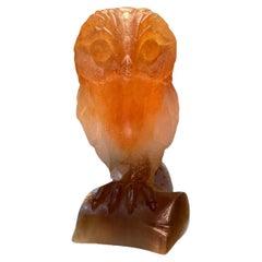 Daum Glass France Pate de Verre Owl Figurine/Sculpture