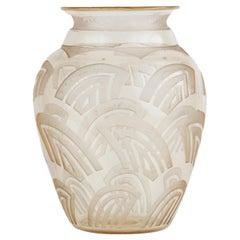 Daum Nancy Art Deco Art Glass Vase