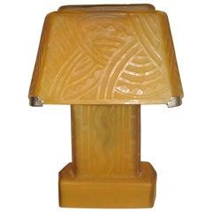 Daum Nancy Art Deco Table Lamp