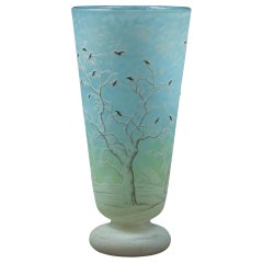 "Daum Nancy ""Blackbird"" Vase"