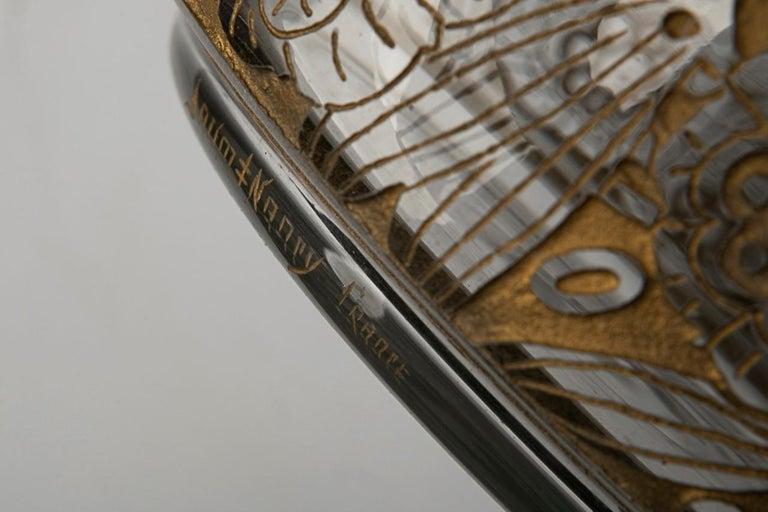 Carved Daum Nancy Box 'Art Deco' For Sale