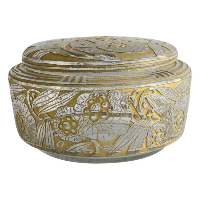 Daum Nancy Box 'Art Deco' For Sale
