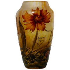Daum Nancy Cameo Enameled Art Nouveau Vase