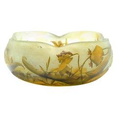 Daum Nancy Cameo Glass Bowl, France, circa 1900