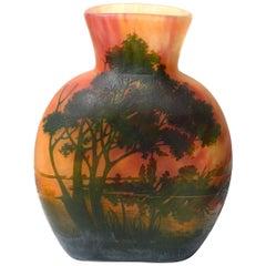 Daum Nancy Cameo Glass Vase, France, circa 1920