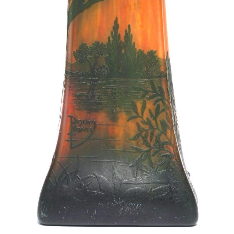 Early 20th Century Daum Nancy Cameo Scenic Art Nouveau Vase For Sale