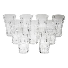 Daum Nancy Crystal Glass Barware Set, 9 Pieces