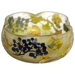 Daum Nancy Enameled Blueberry Bowl