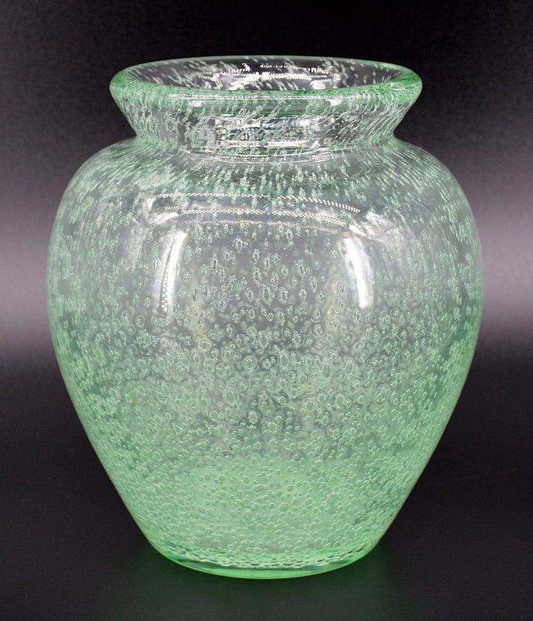 Daum Nancy French Art Deco Vase, 1930s In Good Condition For Sale In Saint-Amans-des-Cots, FR