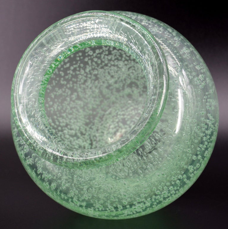 Glass Daum Nancy French Art Deco Vase, 1930s For Sale