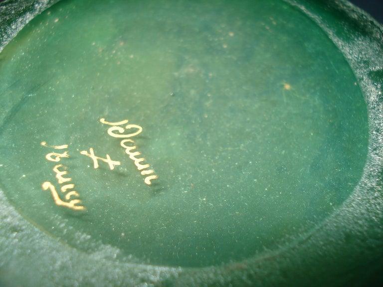 Daum Nancy French Art Nouveau Acid Etched Glass Vase or Pitcher with Enamel For Sale 4