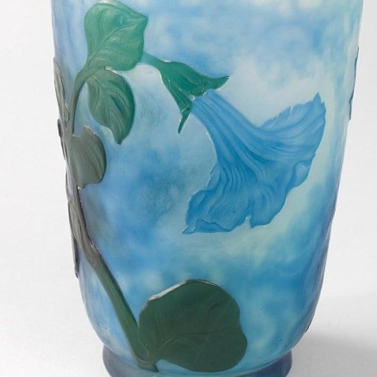Art Glass Daum Nancy French Art Nouveau Cameo Glass Vase For Sale