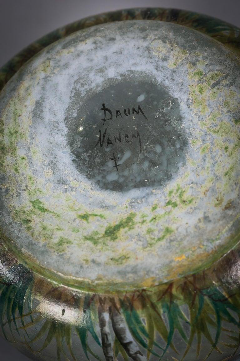 French Daum Nancy Landscape Bowl, circa 1900 For Sale