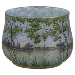 Daum Nancy Landscape Bowl, circa 1900