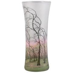 "Daum Nancy ""Rain Landscape"" Vase, circa 1910"