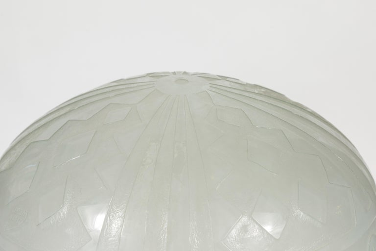 Art Glass Daum Nancy Reproduction Domed Lamp For Sale