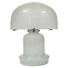 Daum Nancy Reproduction Domed Lamp