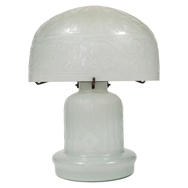 Daum Nancy Reproduction Domed Lamp For Sale