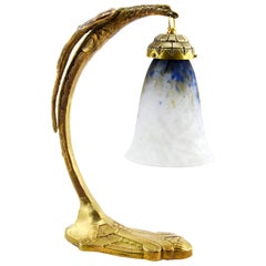 Daum Ranc French Art Deco Eagle Table or Desk Lamp, Early 1920s