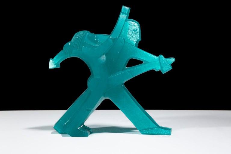 """Daum Figurative Sculpture - """"Les Danseurs (The Dancers)"""", Figurative Glass Sculpture by Dan Dailey"""